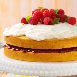 Lemon Raspberry-Filled Cake