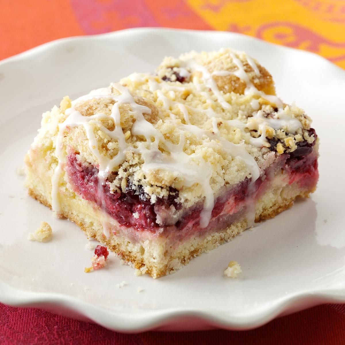 Lemon-Raspberry Streusel Cake Recipe