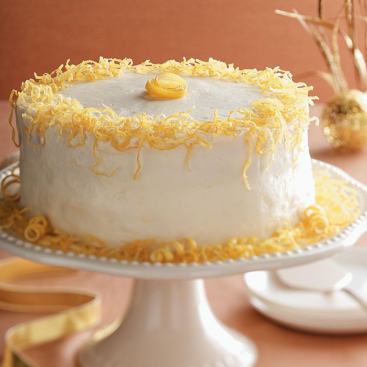 Lemon Box Cake With Ricotta