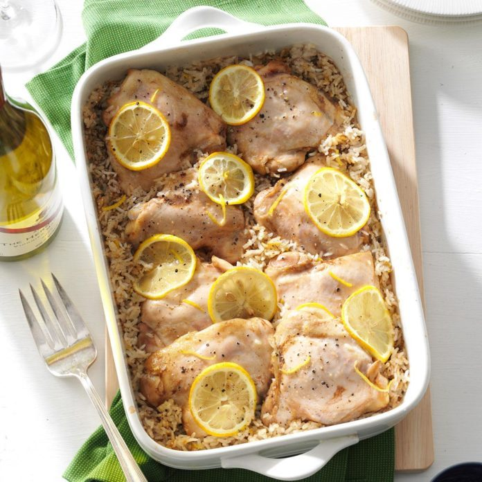 Lemony Chicken & Rice