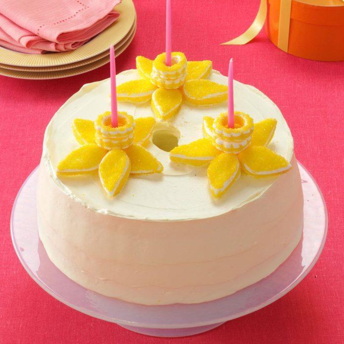 Lemony Daffodil Cake