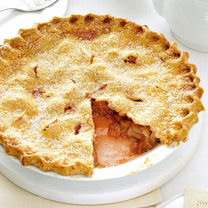 Lemony Rhubarb Pie