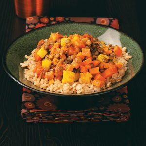 Lentil Sweet Potato Curry