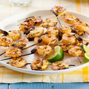 Lime-Cilantro Shrimp Skewers