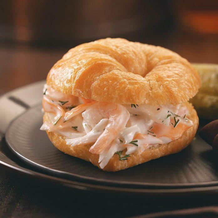 Lobster-Shrimp Salad Croissants