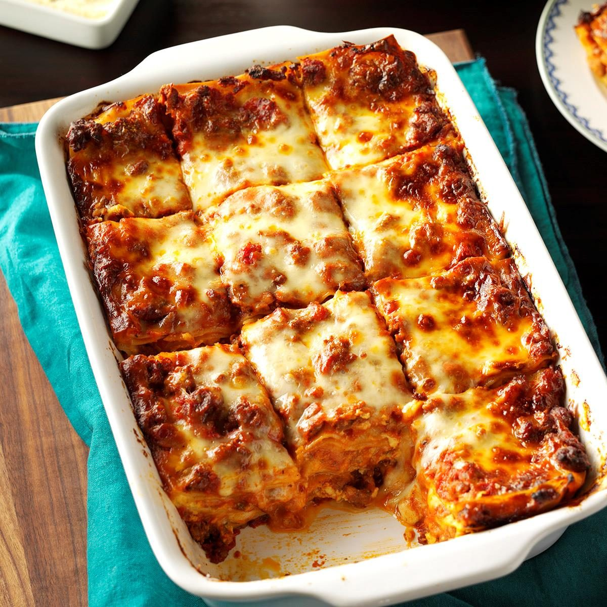 Her Majesty, lasagna is a recipe for cooking