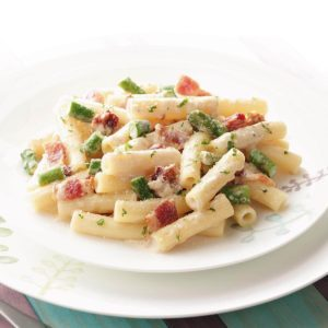 Makeover Rigatoni with Bacon and Asparagus