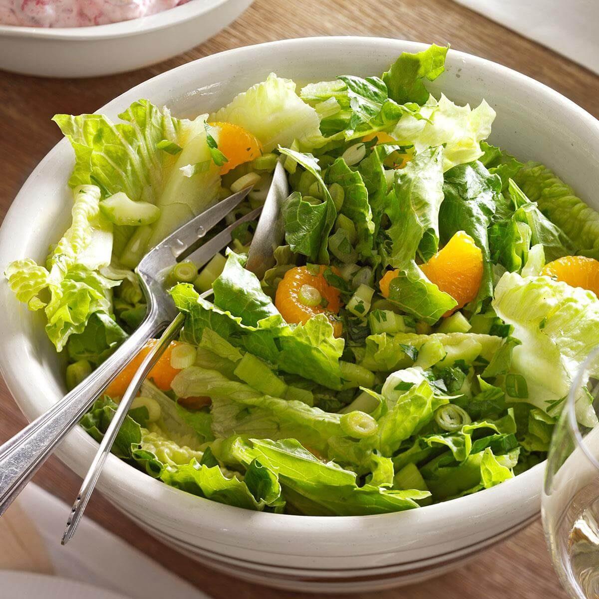 Lettuce Leaves Celery And Turkey Salad On Pinterest: Mandarin Orange & Romaine Salad Recipe
