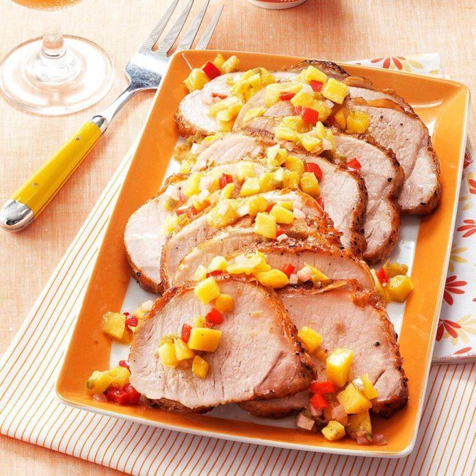 Mango Chutney Pork Roast