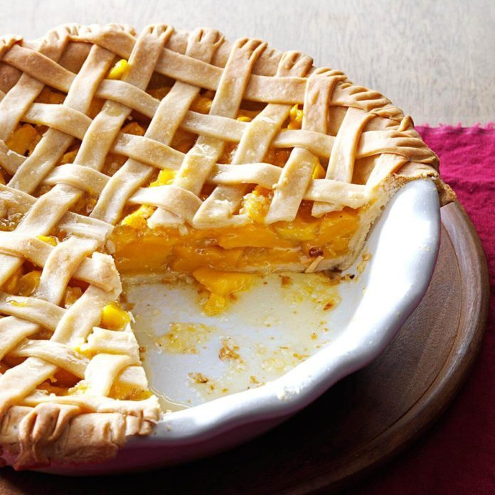 Mango Pie with Coconut Crust