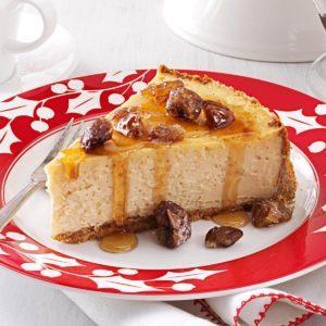 Maple-Chestnut Cheesecake