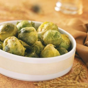 Maple-Dijon Glazed Brussels Sprouts