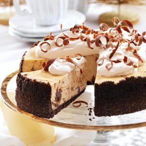 Marbled Cappuccino Fudge Cheesecake