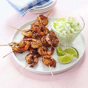 Margarita Granita with Spicy Shrimp