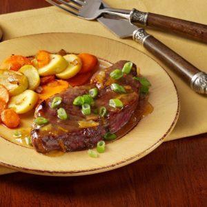 Marmalade-Glazed Steaks