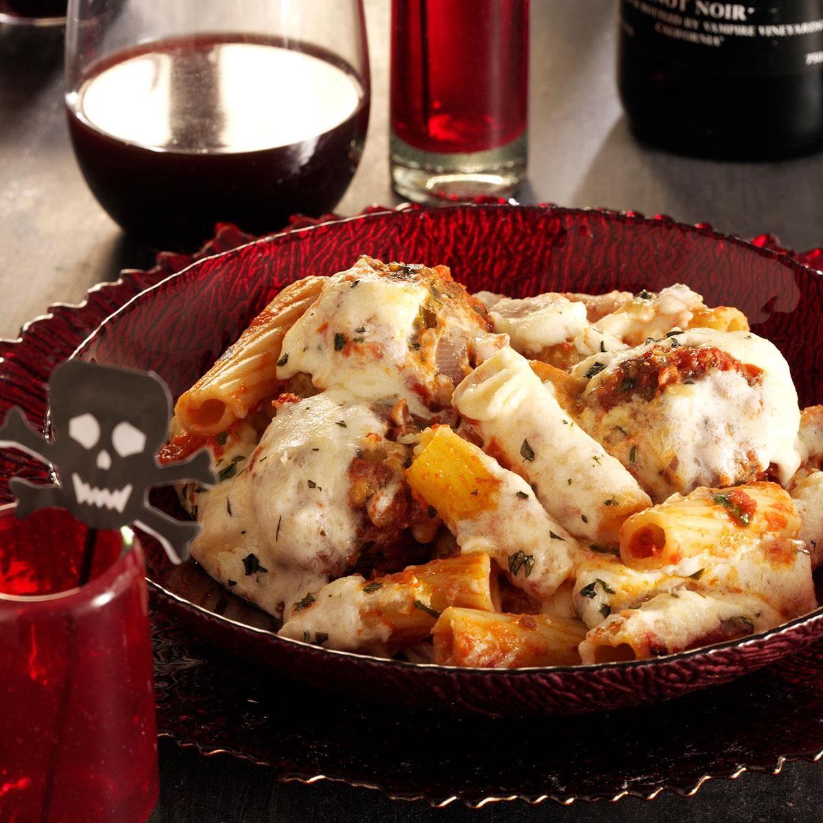 Meatball Rigatoni Alfredo Recipe Taste Of Home