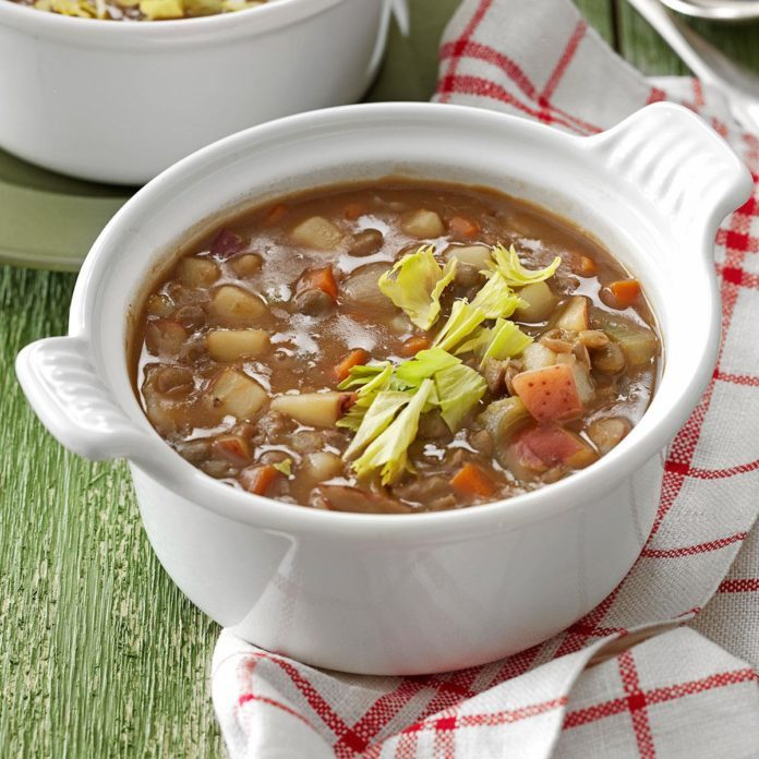 Meatless Lentil Soup