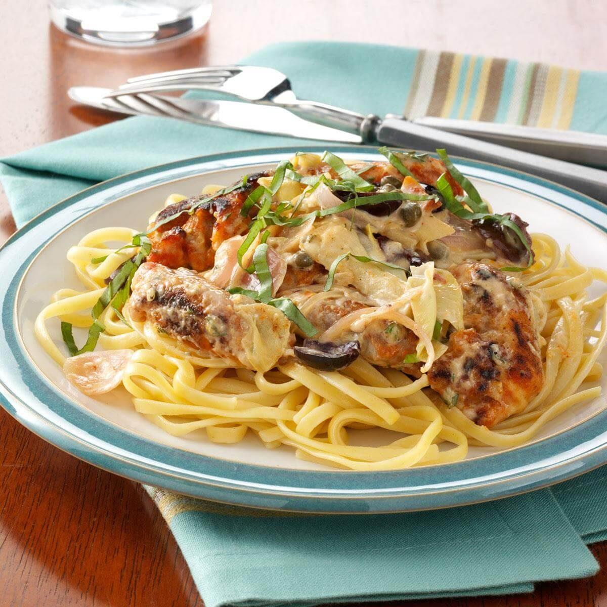 Mediterranean Chicken In Creamy Herb Sauce Recipe
