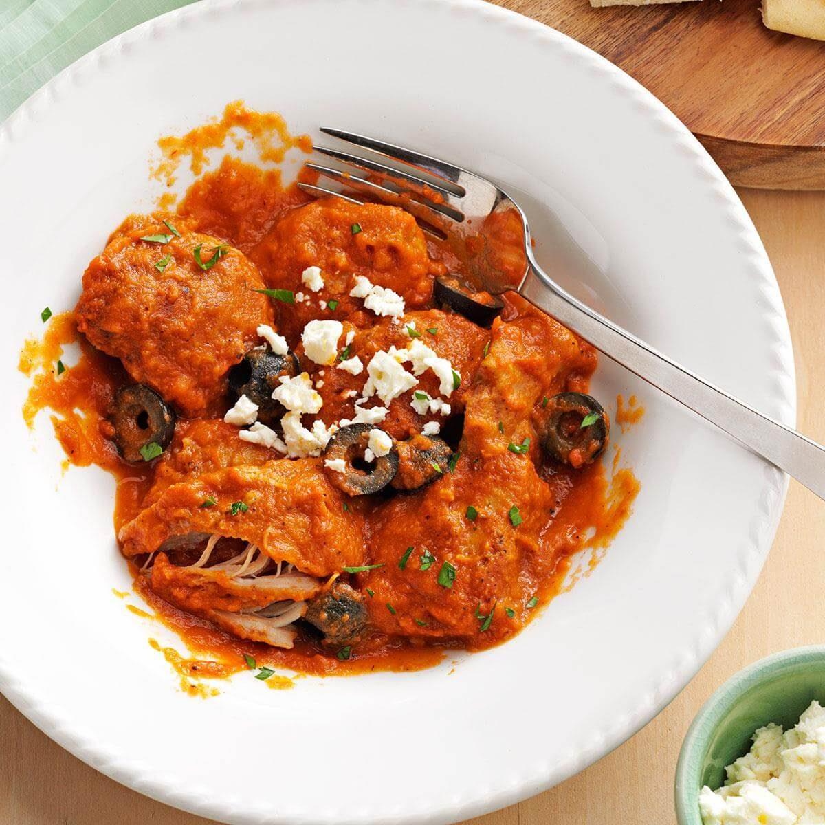 Mediterranean Chicken In Eggplant Sauce Recipe