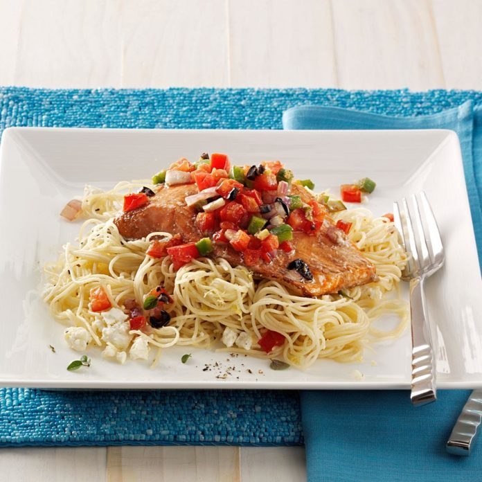 Mediterranean Roasted Salmon