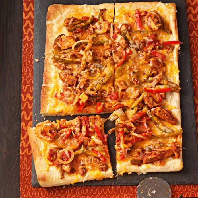 Mexican Chicken Fajita Pizza