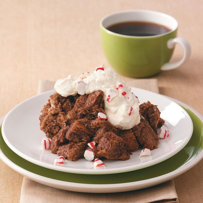 Microwave Chocolate Bread Pudding