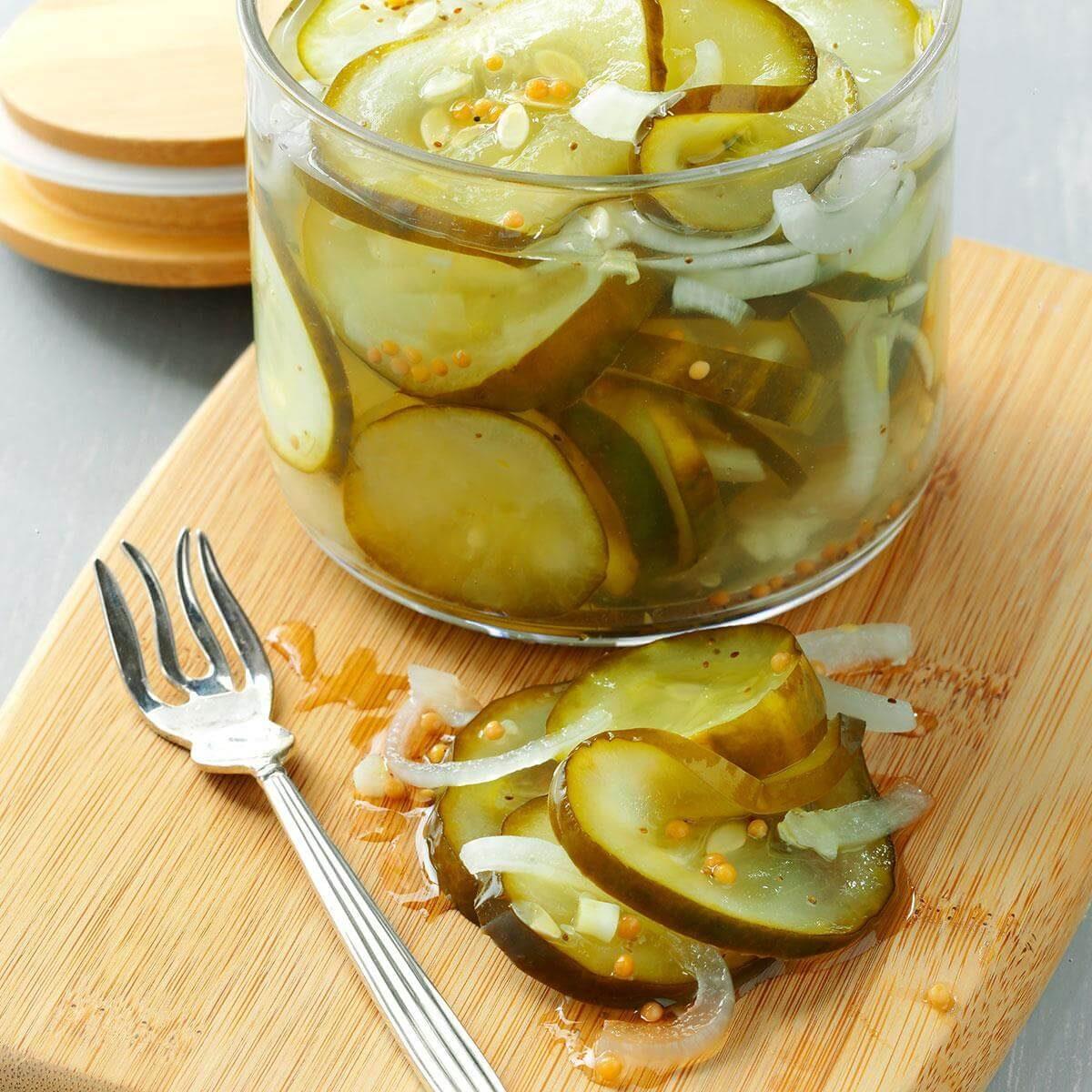 Microwave pickles