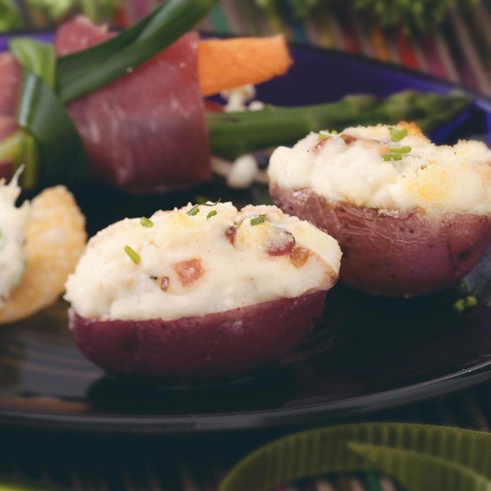 Mini Gorgonzola Stuffed Potatoes