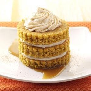 Miniature Pumpkin Cake Towers