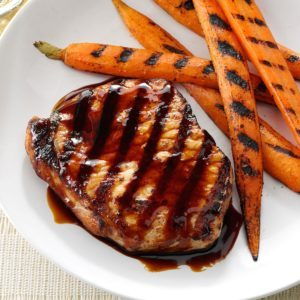 Grilled Pork Chops with Sticky Sweet Sauce