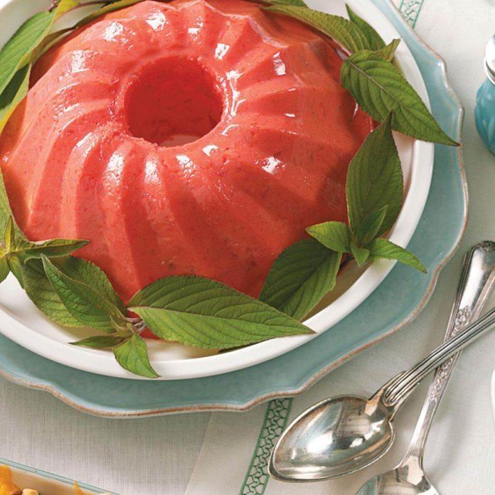 Molded Raspberry Gelatin