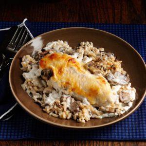 Mushroom Chicken with Wild Rice