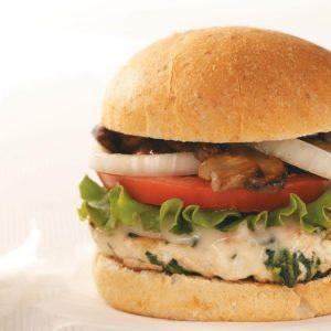 Mushroom & Swiss Turkey Burgers