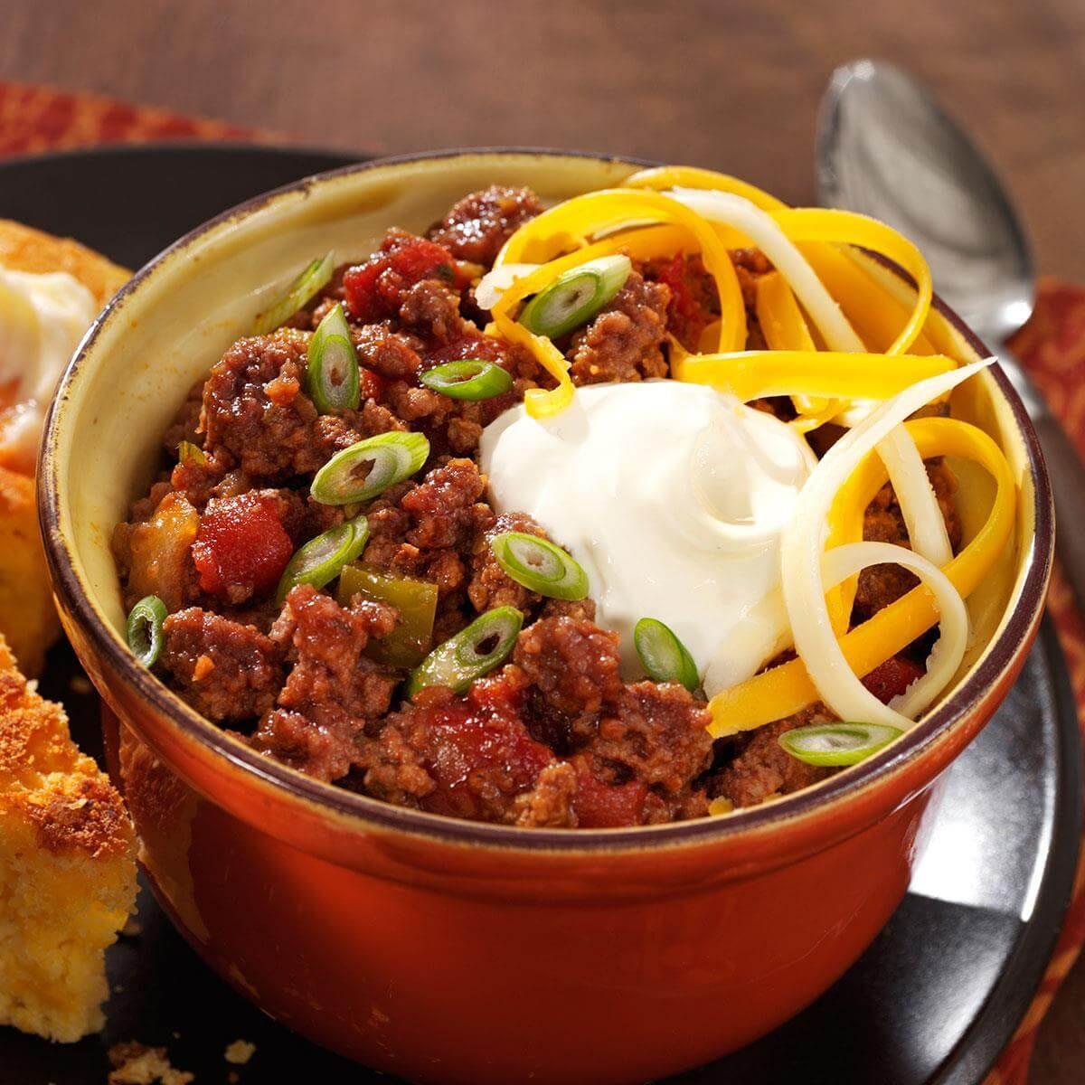 No-Bean Chili Recipe | Taste of Home