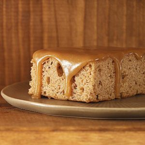 Oatmeal Cake with Caramel Icing
