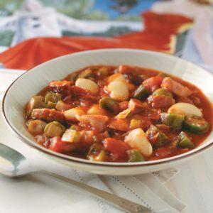 Okra and Butter Bean Stew