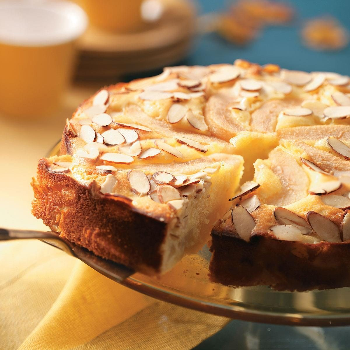 Old Fashioned Almond Pear Cake Recipe Taste Of Home