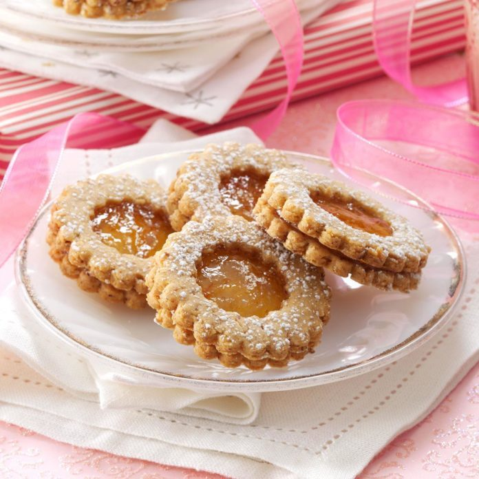 Orange Marmalade Linzer Tarts