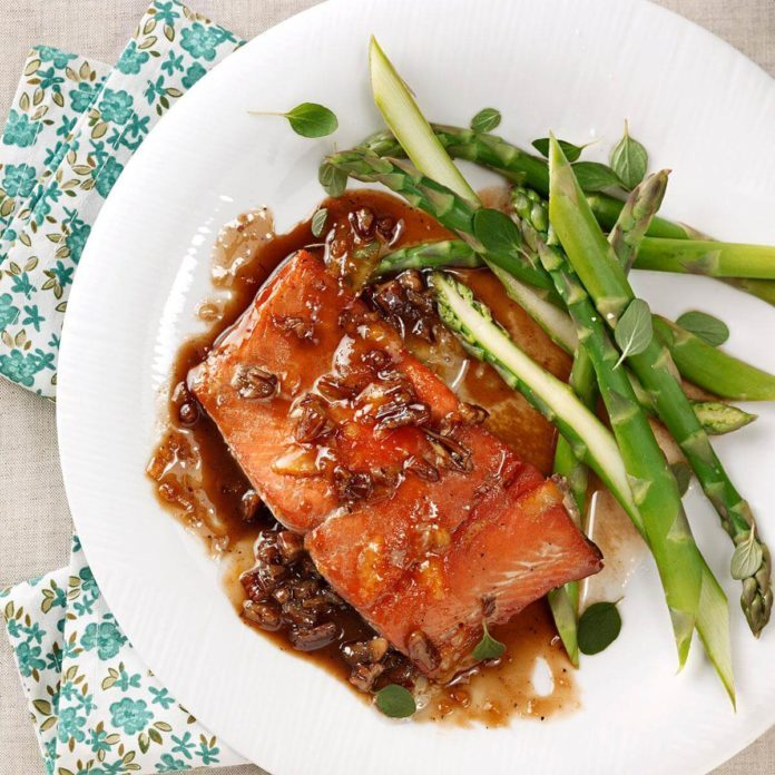 Orange-Pecan Salmon for Two