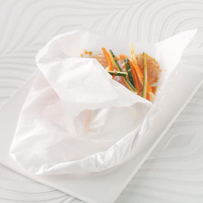 Orange Tilapia in Parchment