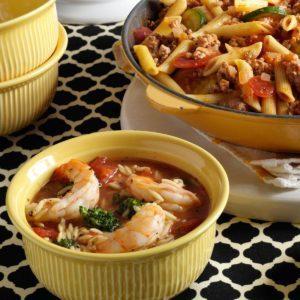 Orzo Shrimp Stew
