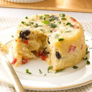 Orzo Timbales with Fontina Cheese