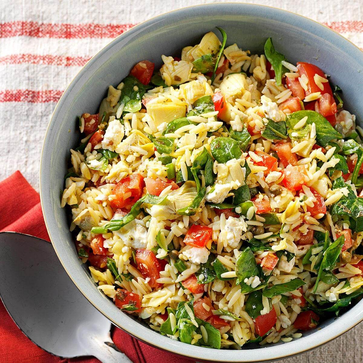 That Good Salad Recipe: Orzo Vegetable Salad Recipe