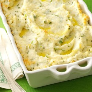 Parmesan-Baked Mashed Potatoes