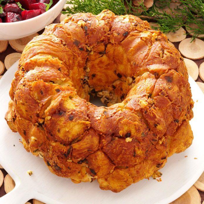 Parmesan-Walnut Bubble Bread