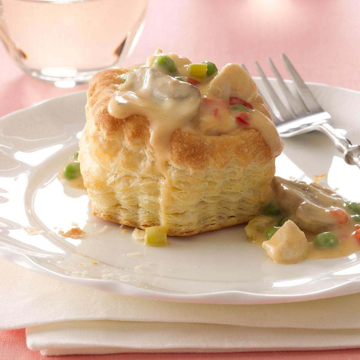 Pastry Chicken A La King Recipe Taste Of Home