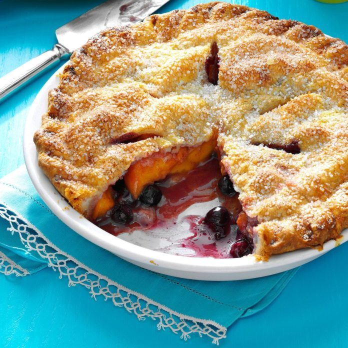 #15: Peach Blueberry Pie