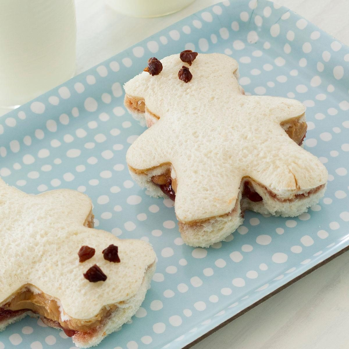 Peanut Butter And Banana Teddy Bear Sandwiches Recipe Taste Of Home