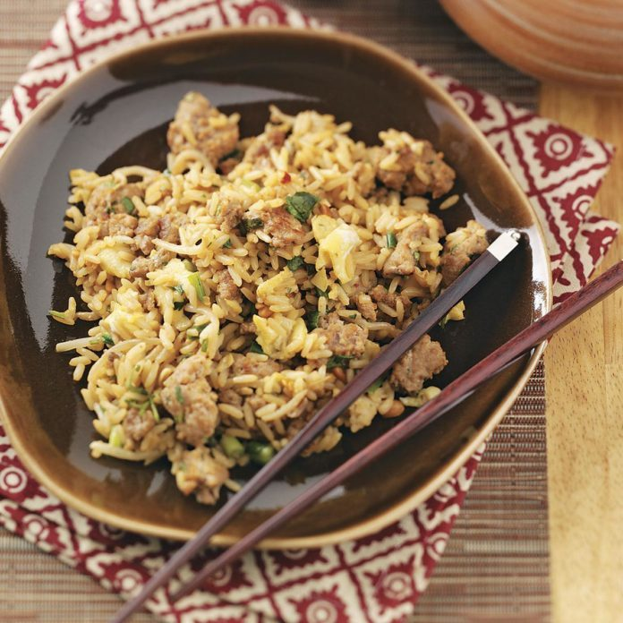 Peanut Turkey Fried Rice