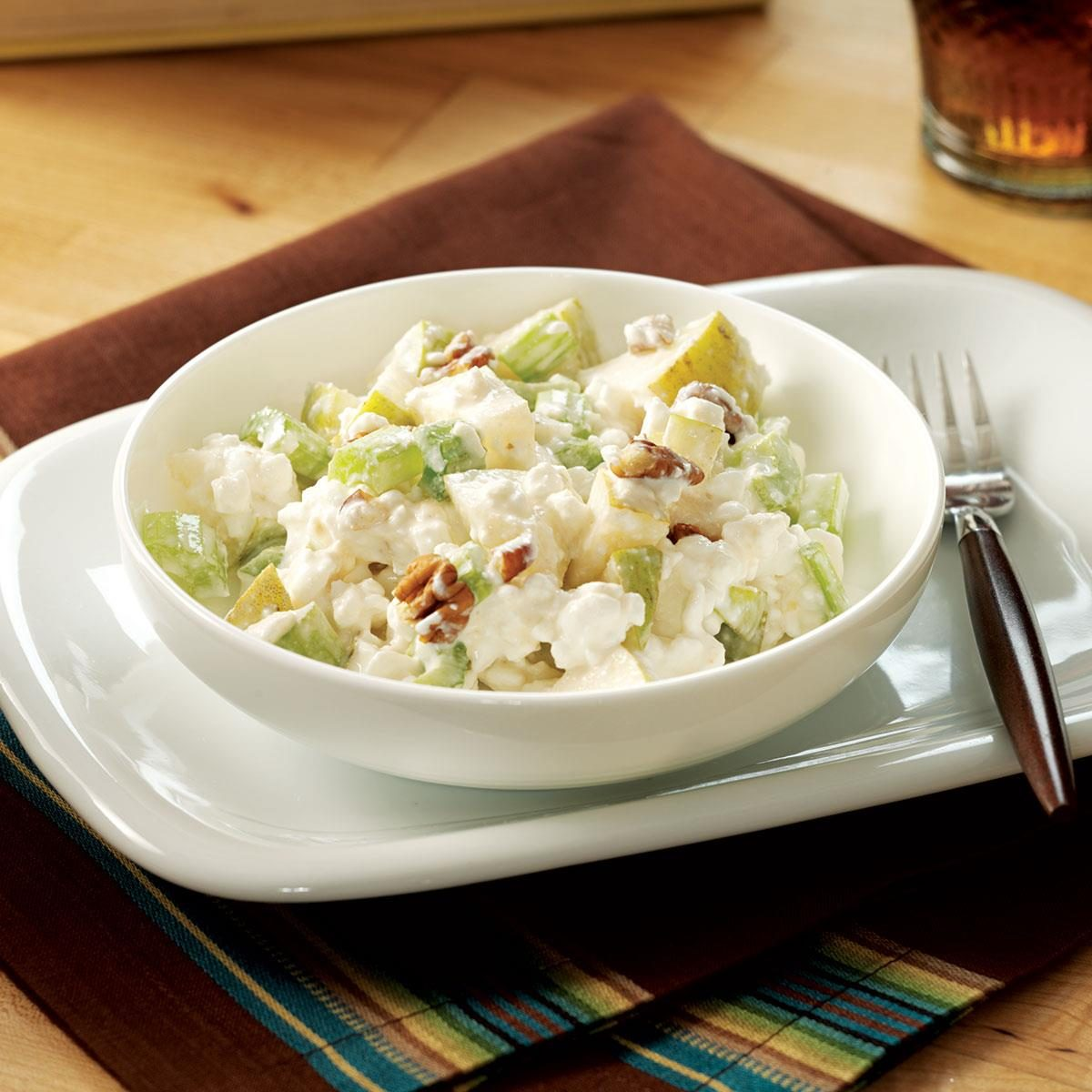 Pear Cottage Cheese Salad Recipe Taste Of Home